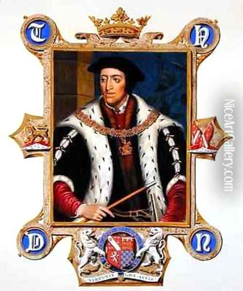 Portrait of Thomas Howard 3rd Duke of Norfolk from Memoirs of the Court of Queen Elizabeth Oil Painting - Sarah Countess of Essex