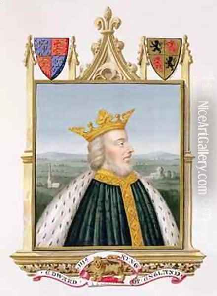 Portrait of Edward III King of England from 1327 from Memoirs of the Court of Queen Elizabeth Oil Painting - Sarah Countess of Essex