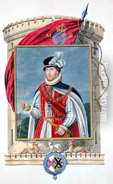Portrait of John Dudley Duke of Northumberland from Memoirs of the Court of Queen Elizabeth Oil Painting - Sarah Countess of Essex