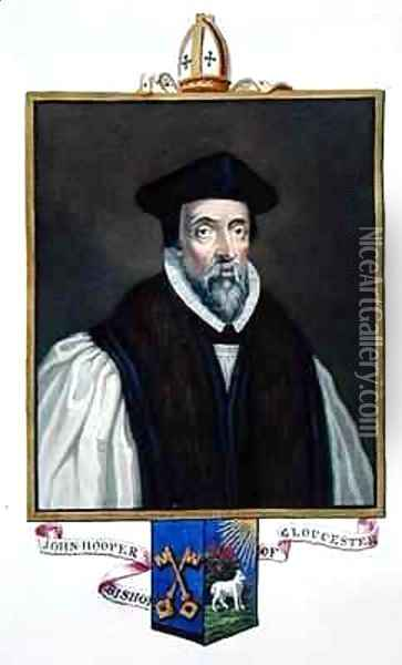 Portrait of John Hooper Bishop of Gloucester from Memoirs of the Court of Queen Elizabeth Oil Painting - Sarah Countess of Essex