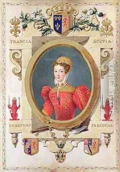 Portrait of Mary Queen of Scots from Memoirs of the Court of Queen Elizabeth Oil Painting - Sarah Countess of Essex