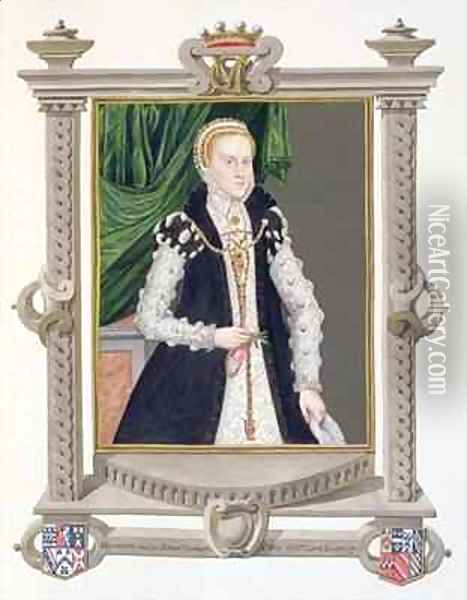 Portrait of Mildred Cooke Lady Burghley from Memoirs of the Court of Queen Elizabeth Oil Painting - Sarah Countess of Essex