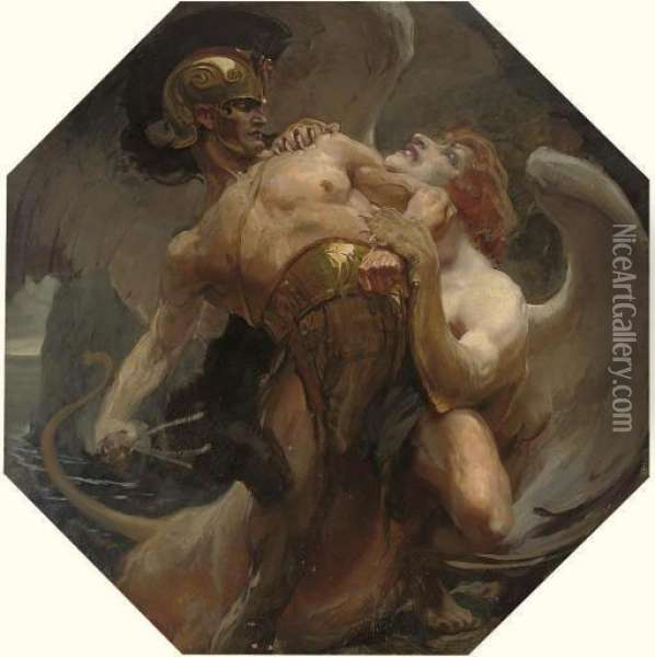 The Riddle Of The Sphinx Oil Painting - Alois Schonn