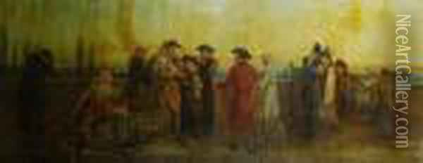 Death Of The King Oil Painting - William Bell Scott