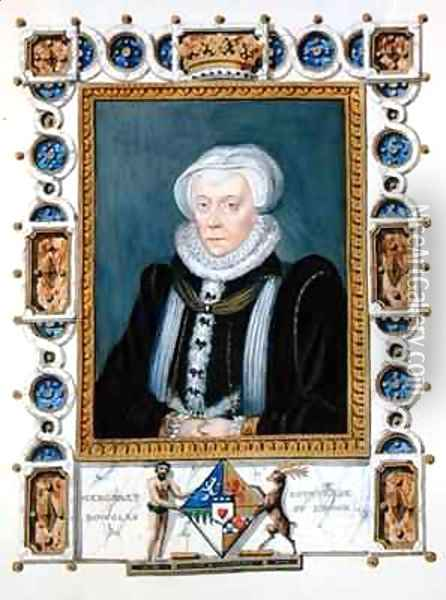 Portrait of Margaret Douglas Countess of Lennox from Memoirs of the Court of Queen Elizabeth Oil Painting - Sarah Countess of Essex