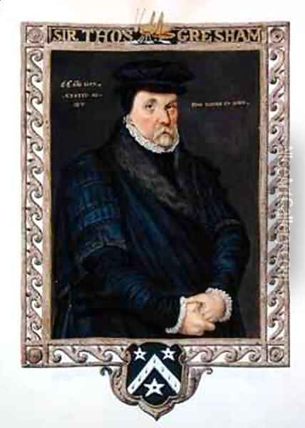 Portrait of Sir Thomas Gresham from Memoirs of the Court of Queen Elizabeth Oil Painting - Sarah Countess of Essex