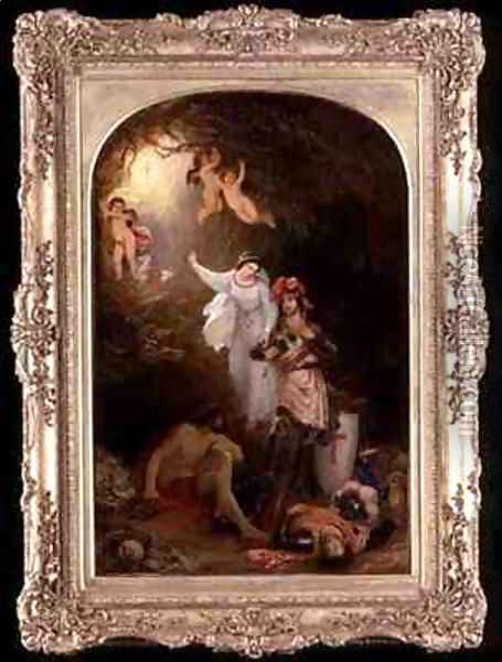 Una Delivering the Red Cross Knight from the Cave of Despair Oil Painting - Sir Charles Lock Eastlake