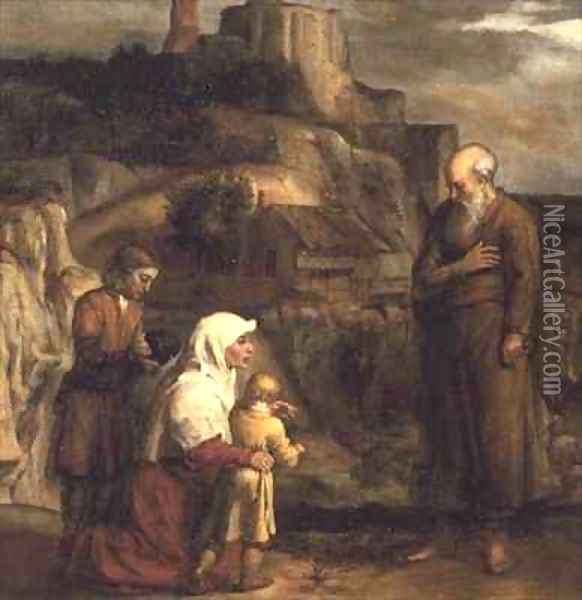 Elijah and the Widow of Zarephath Oil Painting - Barent Fabritius