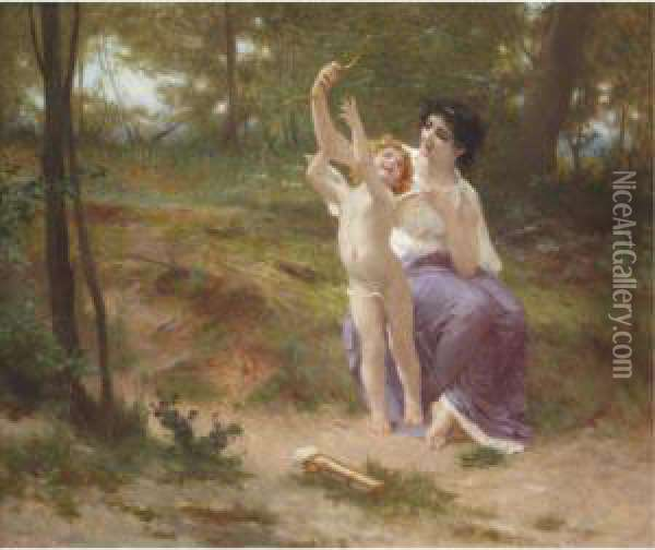 Love Disarmed Oil Painting - Guillaume Seignac
