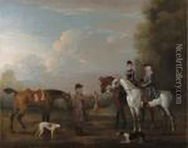 A Coursing Scene Oil Painting - James Seymour