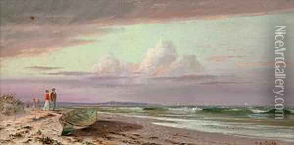 On The Connecticut Shore Oil Painting - Francis Augustus Silva
