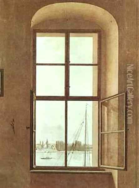 The Lake The Sleeping Water 1897-98 Oil Painting - Caspar David Friedrich