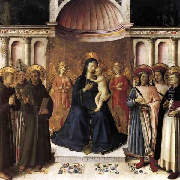 Bosco ai Frati Altarpiece 1450 Oil Painting - Angelico Fra