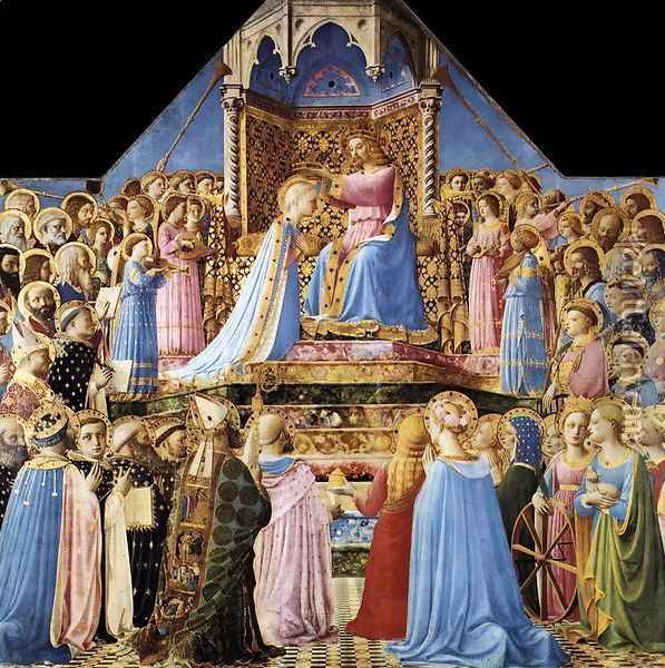 Coronation of the Virgin 1434 Oil Painting - Angelico Fra