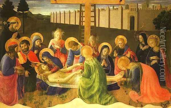 Lamentation over the Dead Christ, 1436 Oil Painting - Angelico Fra