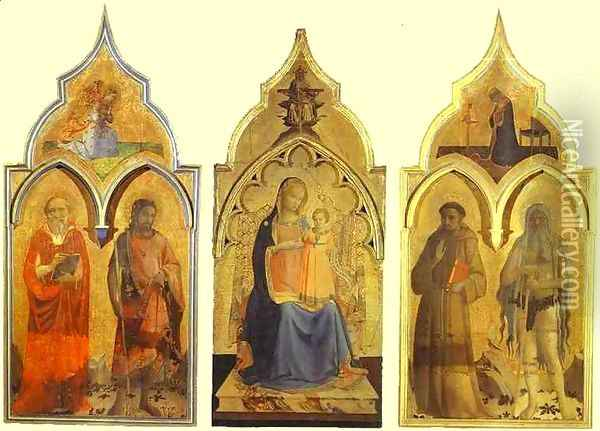 Certosa del Galluzzo Triptych Oil Painting - Angelico Fra
