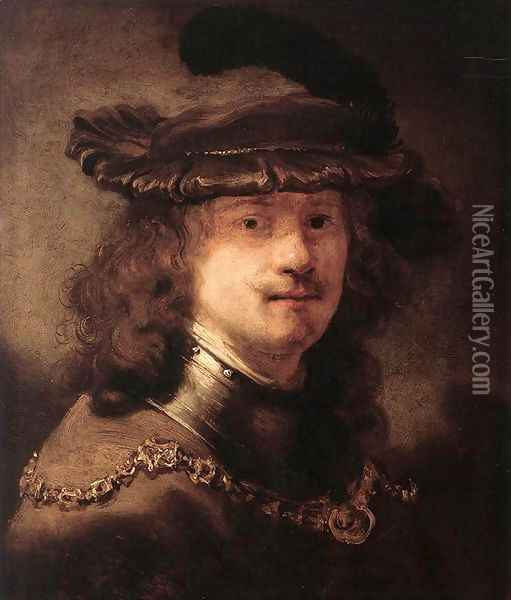 Portrait of Rembrandt 1633-34 Oil Painting - Govert Teunisz. Flinck