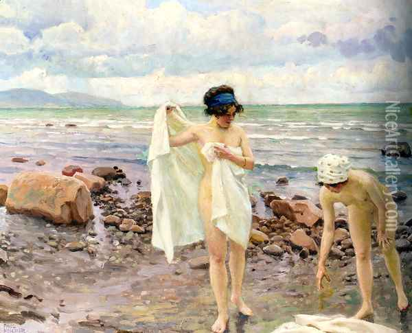 Badende Kvinder (The Bathers) Oil Painting - Paul-Gustave Fischer