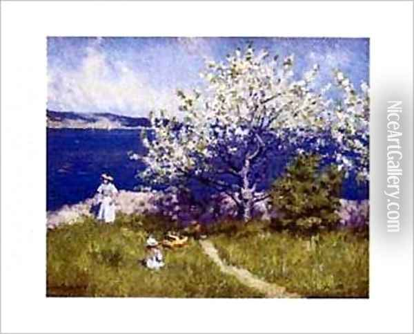 Fjord near Oslo Oil Painting - Paul-Gustave Fischer