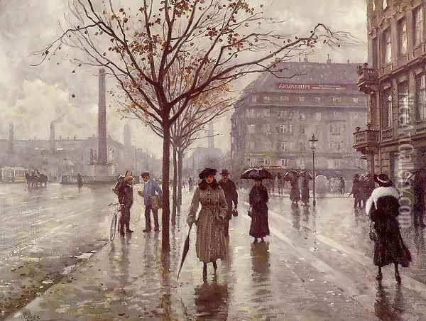 Vesterbrogade Oil Painting - Paul-Gustave Fischer