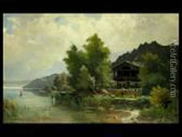 Am Starnberger See Oil Painting - Ludwig Skell
