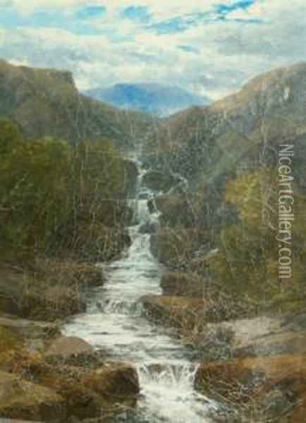 Waterfall Scenes Oil Painting - John Brandon Smith