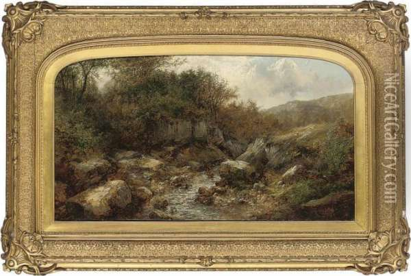 A Stream Through The Valley Oil Painting - John Brandon Smith