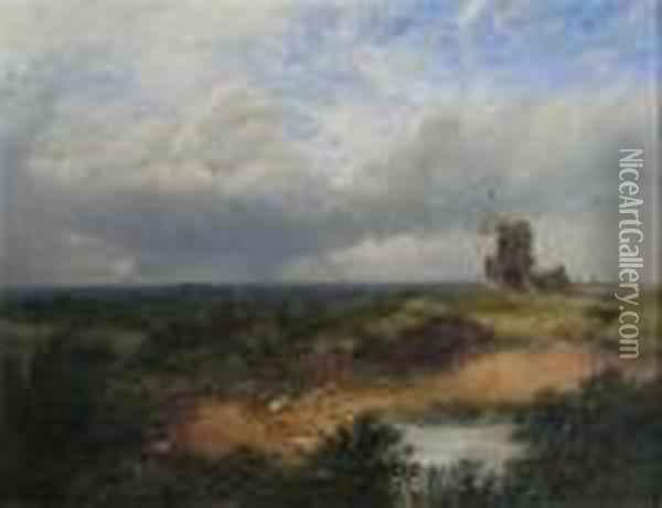 Old Mill In Sussex Oil Painting - John Brandon Smith
