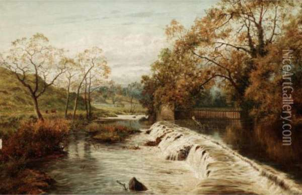 Stapleton Glen, Near Bristol Oil Painting - John Brandon Smith