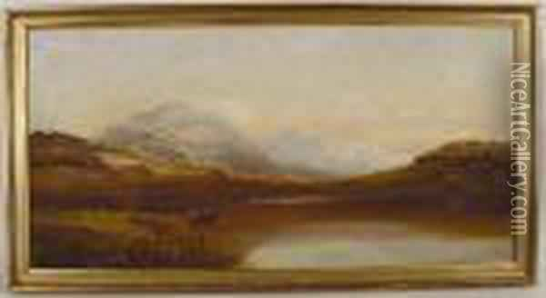 Fishermenand Mountains Oil Painting - John Brandon Smith
