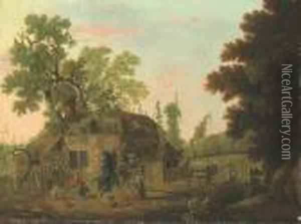 The Hop Pickers Oil Painting - George, of Chichester Smith