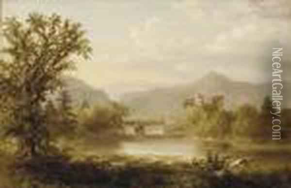 A View Of A Valley Oil Painting - William Russell Smith