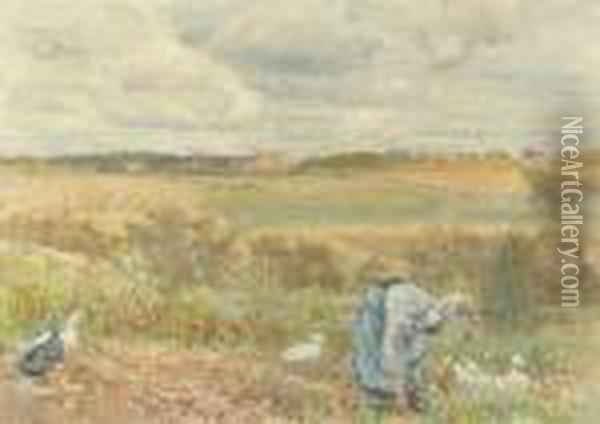 Digging Potatoes Oil Painting - Lionel Percy Smyth