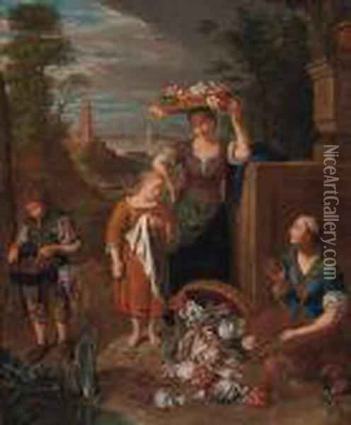 An Allegory Of The Month Of August Oil Painting - Pieter Snyers
