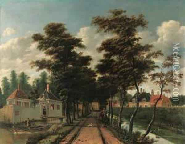 An Avenue Between Two Canals 