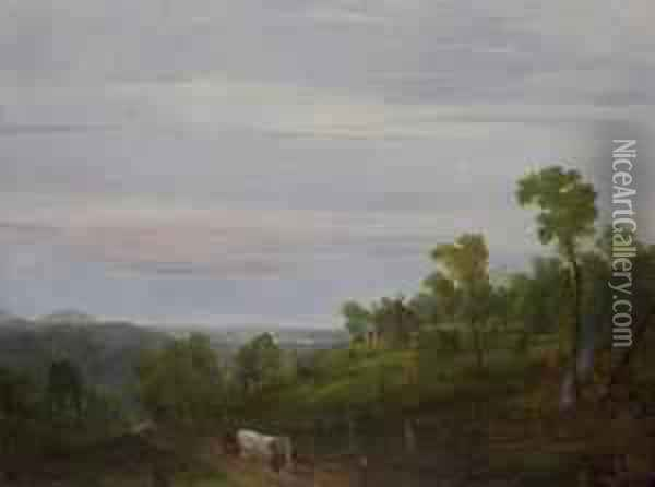 Cabin In The Woods Oil Painting - William Louis Sonntag