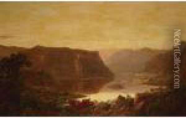 Harper's Ferry Oil Painting - William Louis Sonntag