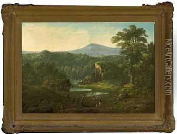 A View Near Cincinnati Oil Painting - William Louis Sonntag
