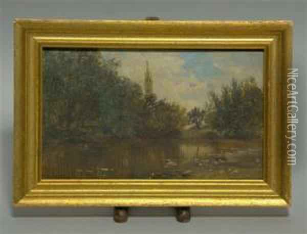 Crystal Lake Oil Painting - William Louis Sonntag