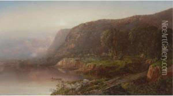 Along The Ohio River Oil Painting - William Louis Sonntag