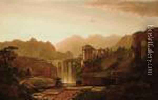 Landscape With Ruins Oil Painting - William Louis Sonntag