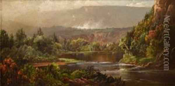 Restful Mountain (morning On The Potomac) Oil Painting - William Louis Sonntag