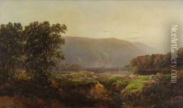 View Of The White Mountains Oil Painting - William Louis Sonntag