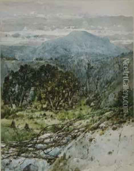White Mountains Oil Painting - William Louis Sonntag