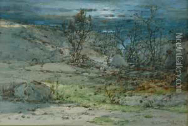Path To The Sea Oil Painting - William Louis Sonntag