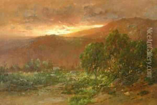 In The Catskills Oil Painting - William Louis Sonntag