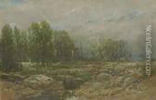 Landscape With Brook Oil Painting - William Louis Sonntag