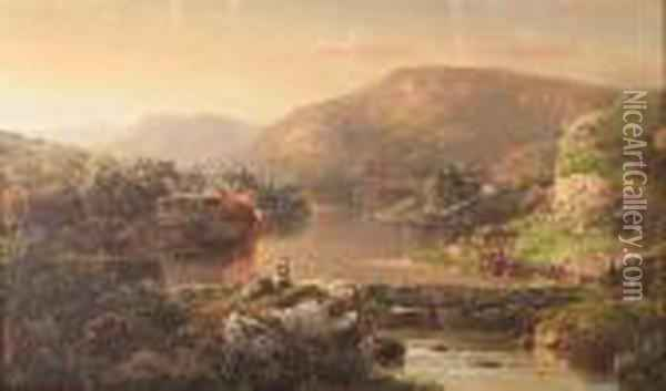 A View Of Shenandoah Valley Oil Painting - William Louis Sonntag
