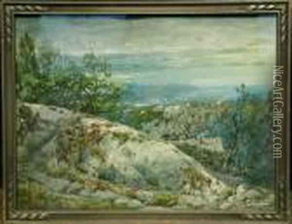 Wooded Overlook Oil Painting - William Louis Sonntag