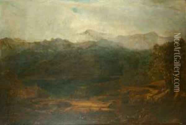 Mist In The Mountains Oil Painting - William Louis Sonntag